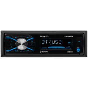BOSS - ELITE - Single Din Mechless MP3/AM/FM Receiver w/ Bluetooth, RGB Illumination, Detach Face
