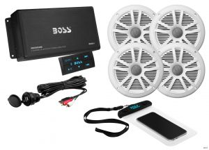 BOSS - Bluetooth Amplifier Speaker Package includes 2 pairs of speakers (no receiver  required)