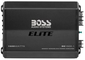 BOSS - ELITE - 1500 Watts, Class A/B Monoblock Power Amplifier w/ Remote Sub Level Control