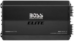 BOSS - ELITE - 1600 Watts, Class A/B 2 Channel Power Amplifier w/ Remote Sub Level Control