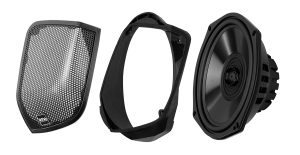 BOSS - 2014+ Harley-Davidson Rear Bag Lid Speaker Kit for OE and OE Style Bag  Lids