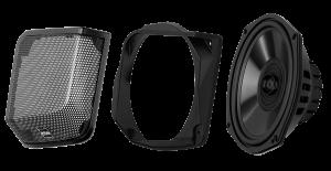 BOSS - 1998-2013 Harley-Davidson Rear Bag Lid Speaker Kit for OE and OE Style Bag Lids