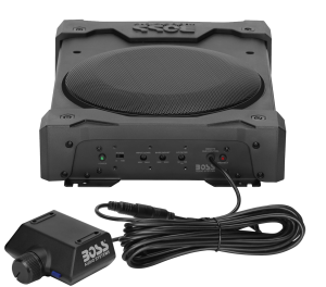 "BOSS - 8"" Low-Profile Amplified Subwoofer w/ Remote Subwoofer Control"
