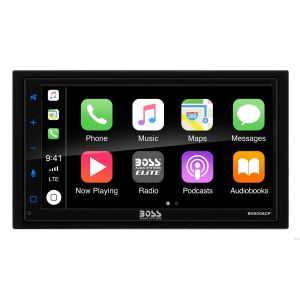 """BOSS - ELITE - Double Din BT CarPlay & Android Auto  6.75"""" TFT Wireless Remote 80x4"""