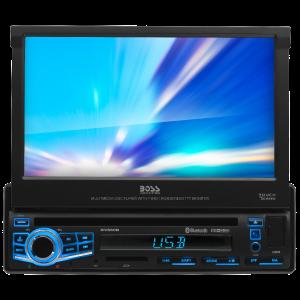 "BOSS - ELITE - Single Din BT DVD/MP3/CD AM/FM Receiver w/ Motorized 7"" Touchscreen Monitor"