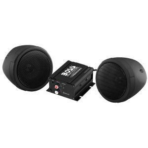 BOSS - ATV Bluetooth BLACK 2-Speaker System with 2ch Amp