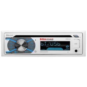 BOSS - Single Din CD Marine BLUETOOTH® In-Dash Single CD Receiver White