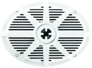 BOSS - 6x9 2-Way Coaxial Marine Speaker, 350 Watts (White)