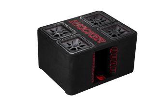KICKER - QL7R12L 12-inch (30cm) Loaded Ported Quad Box, 2Ω, RoHS Compliant